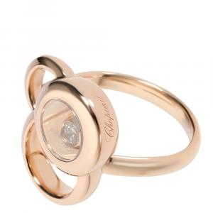 Chopard Happy Dreams 18K Rose Gold Diamond Ring Size 47