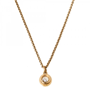 Chopard Miss Happy Diamond 18K Rose Gold Necklace