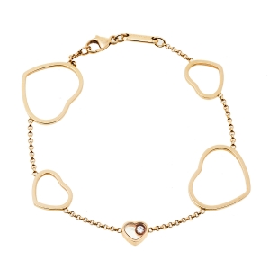 Chopard Happy Hearts Diamond 18K Rose Gold Bracelet
