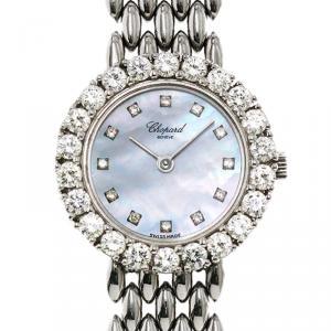 Chopard Mother of Pearl 18K White Gold Diamond Women's Wristwatch 23MM