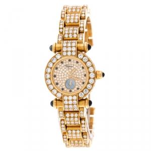 Chopard Diamond 18k Yellow Gold Imperiale 39/3368-23 Women's Wristwatch 26MM