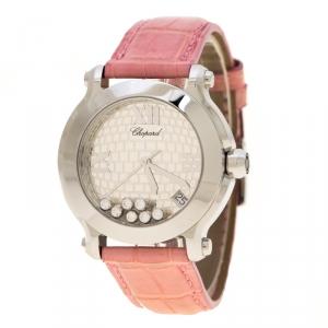 Chopard Silver Stainless Steel Happy Sport 278475-3007 Women's Wristwatch 36 mm