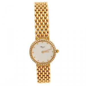 Chopard White 18K Yellow Gold Classic 105911001 Women's Wristwatch 32 mm