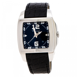 Chopard Black Stainless Steel Two O Ten Tycoon Women's Wristwatch 34 mm