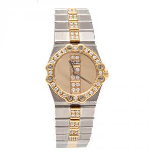 Chopard Gold Saint Moritz Steel & Yellow Gold Full Diamonds Women'S Watch 24MM