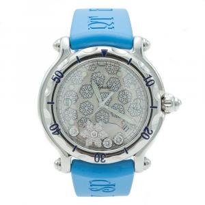 Chopard Happy Sport Snow Flakes Diamond Steel Women's Watch 38 MM