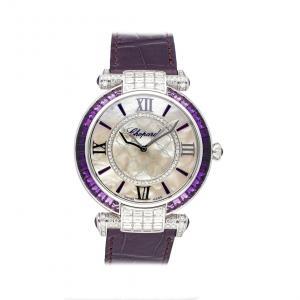 Chopard MOP Diamonds 18K White Gold Imperiale Joaillerie 384239-1012 Women's Wristwatch 40 MM