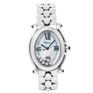Chopard Mother of Pearl Stainless Steel Diamond Happy Sport 278418-3004 Women's Wristwatch 30 mm