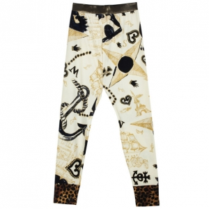 Christian Lacroix Vintage Stretch Leggings S
