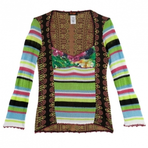Christian Lacroix Multicolor Knitted Long Sleeve Shirt