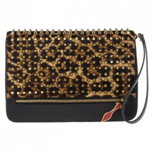 Christian Louboutin Leopard Pony Hair Cris Spiked iPad Case