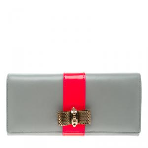 Christian Louboutin Grey Leather Sweet Charity Continental Wallet