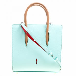 Christian Louboutin Multicolor Leather Small Paloma Top Handle Bag