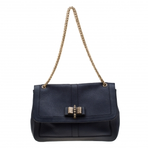 Christian Louboutin Blue Leather Sweet Charity Bag