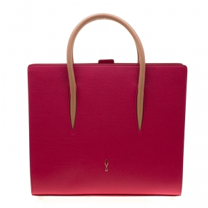 Christian Louboutin Pink Leather Paloma Tote