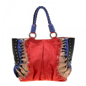 Christian Louboutin Multicolor Leather Spike Talita Tote