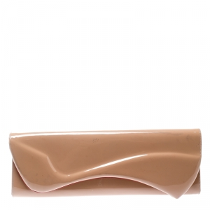 Christian Louboutin Nude Patent Leather So Kate Clutch