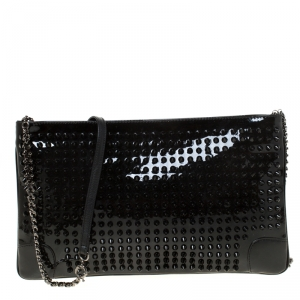 Christian Louboutin Black Spiked Peter Crossbody Bag