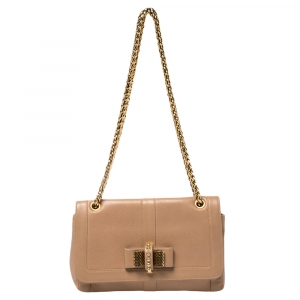 Christian Louboutin Beige Leather Sweet Charity Shoulder Bag