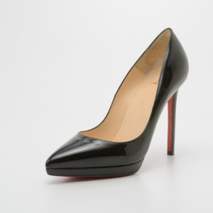 Christian Louboutin Black Patent Pigalle Plato 120mm Pumps Size 39.5