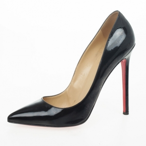 Christian Louboutin Black Patent Pigalle 120mm Pumps Size 40