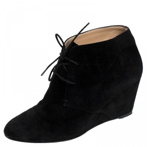 Christian Louboutin Black Suede Ankle Booties Size 38 - used