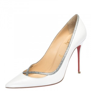 Christian Louboutin White Leather Princess Pumps Size 40