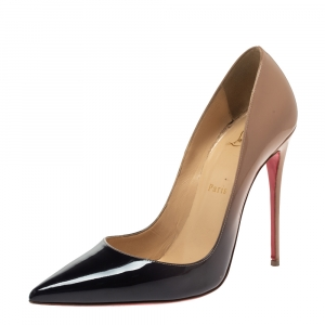 Christian Louboutin Two Tone Patent Leather Ombre So Kate Pumps Size 38.5
