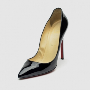 Christian Louboutin Black Patent Pigalle 120mm Pumps Size 37