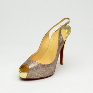 Christian Louboutin 'N°Prive' 120mm Peep Toe Platform Sling Back Sandals Size 36