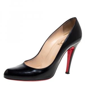 Christian Louboutin Black Leather Feticha Pumps Size 36.5