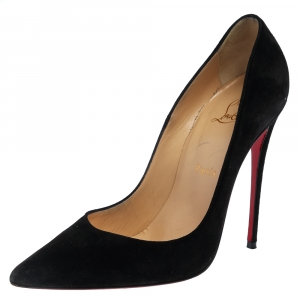 Christian Louboutin Black Suede So Kate Pumps Size 38.5