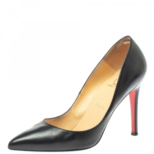 Christian Louboutin Black Leather Pigalle Pumps Size 38