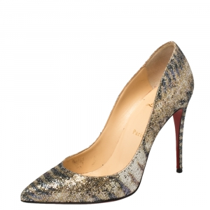 Christian Louboutin Multicolor Glitter So Kate Pumps Size 40