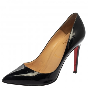 Christian Louboutin Black Patent Leather So Kate Pumps Size 38.5