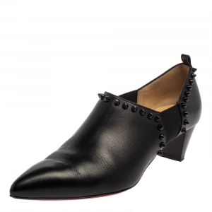 Christian Louboutin Black Leather Vicky Ankle Boots Size 39.5 - used