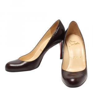 Christian Louboutin Brown Leather Pumps Size EU 36