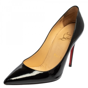 Christian Louboutin Black Patent Leather So Kate Pumps Size 35