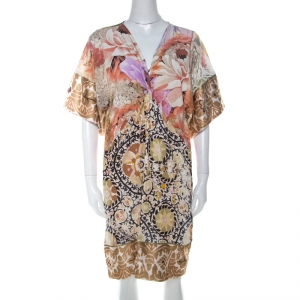 Class by Roberto Cavalli Multicolor Mixed Print Short Dress S