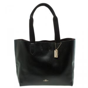 Coach Black Pebbled Leather Derby Tote