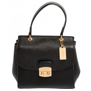 Coach Black Leather Avary Top Handle Bag