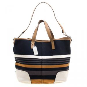Coach Multicolor Fabric and Leather Tote