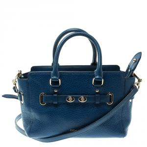 Coach Blue Leather Swagger Tote