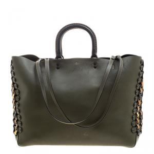 Coach Olive Green Leather Rogue Tote