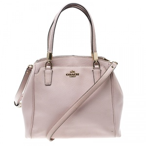 Coach Blush Pink Leather Tote