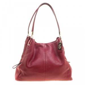 Coach Burgundy Leather Madison Tote