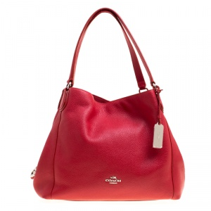 Coach Red Leather Edie 31 Tote
