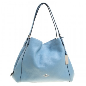 Coach Light Blue Leather Edie 31 Tote