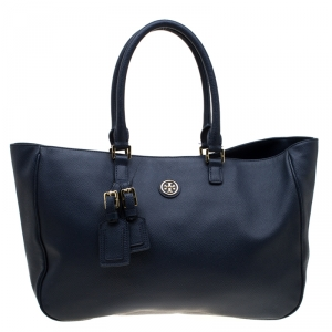 Tory Burch Black Leather Roslyn Tote