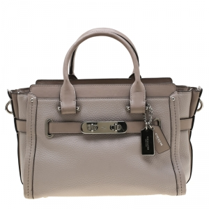 Coach Grey Leather Swagger 27 Tote